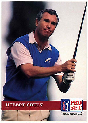 Hubert Green #196 PGA Tour Golf 1992 Pro Set Trade Card (C322)