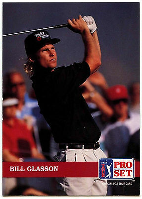 Bill Glasson #193 PGA Tour Golf 1992 Pro Set Trade Card (C322)