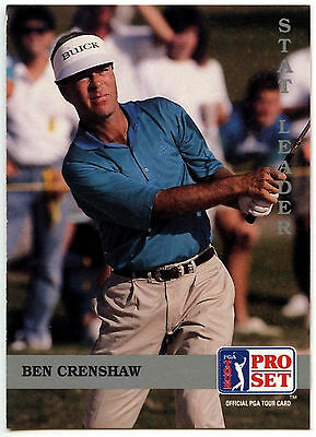 Ben Crenshaw #183 PGA Tour Golf 1992 Pro Set Trade Card (C322)