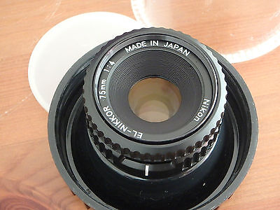 Nikon EL-Nikkor 75mm 1:4 Enlarger lens with original CP-2 keeper