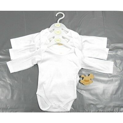 """Baby Boys Girls """"rock A Bye Baby"""" 3 Pack Long Sleeved Vests"""