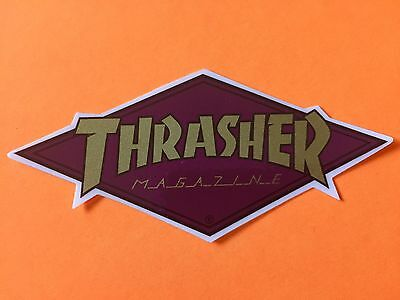 061557ba3166 Thrasher Magazine Skateboard Sticker Diamond Logo Decal Mag Skate Goat Flame