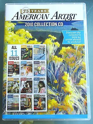 American Artist magazine 2010 collection cd-rom all 11 issues.