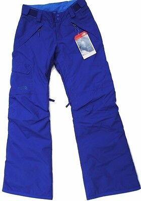 New The North Face Freedom Snow Pants Insulated Tech Blue Youth Large 14/16 Boys