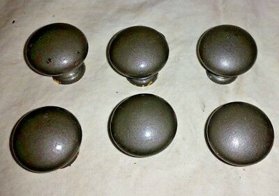 (25) Vintage/Antique Brass Pewter Look Drawer Cabinet Pull Handle Knob