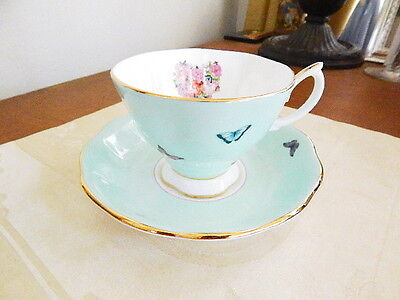 Miranda Kerr Royal Albert BLESSINGS VINTAGE Cup and Saucer GREEN - NEW!