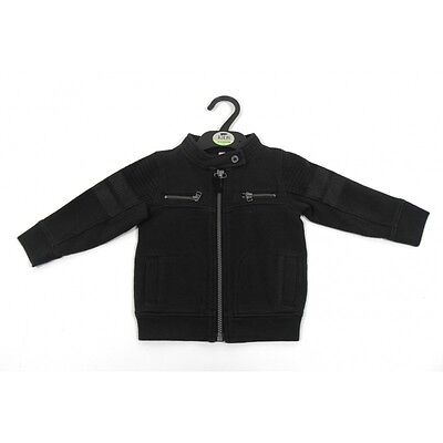 "Baby Boys ""Ex M&S"" Zipped Biker Style Cardigan 12 Months To 7 Years"