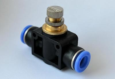 8mm Push Fit CO2 Flow Control Valve, Aquarium Air Pump,Speed Control Valve