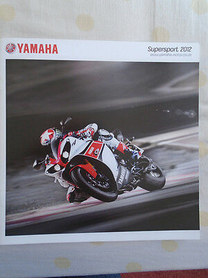 Yamaha Supersport motorcycle brochure 2012