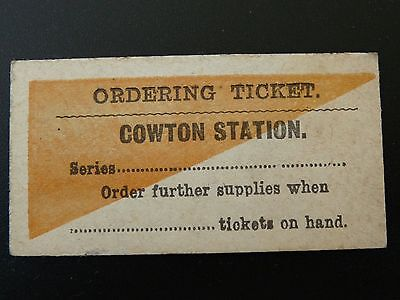 Lner Ordering Ticket Cowton Station