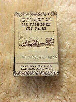 """TREMONT NAIL CO. Steel Cut Old Fashioned Cut Nails 4D Wrought Head Black 1.5"""""""