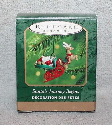 Hallmark Keepsake Santa's Journey Begins Miniature Ornament 2000