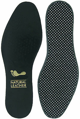 Insoles - Black leather upper full length