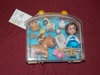 "Disney Parks Disney Animators Collection Belle Mini Doll Play Set 5"" New"