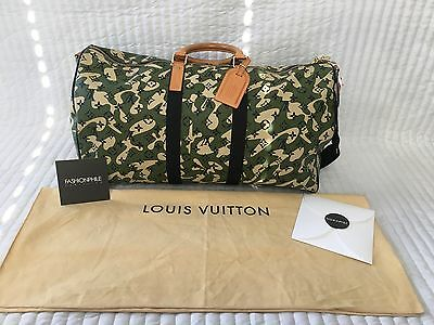 Authentic LOUIS VUITTON Monogramouflage Keepall 55 Camo Limited Edition