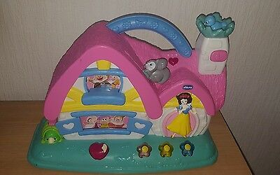 chicco snow white and the 7 dwarfs musical cottage