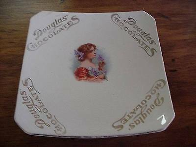 Antique Advertising Douglas Chocolates Candy Dish Plate Pictured Women In Center
