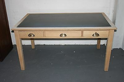 Solid oak vintage 3 draw desk