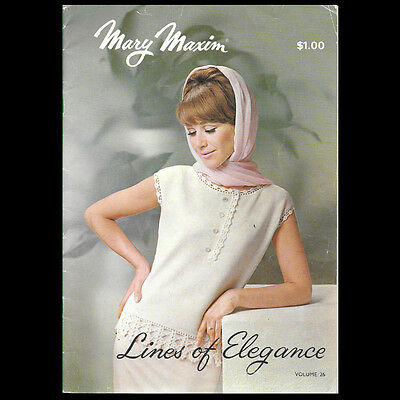 Lines of Elegance by Mary Maxim Vintage Knitting Pattern Volume 26