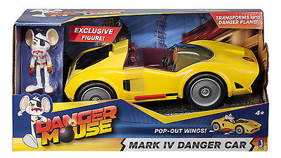 Danger Mouse Mark Iv Danger Car & Action Figure - Free Uk P&p