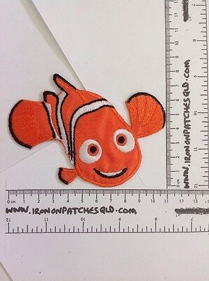 Iron on Patch Finding Nemo 11cm x 8cm Sew Applique Embroidered Cartoon Fish D7