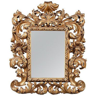 An Italian Antique Gilt Wood Rococo Style Wall Mirror