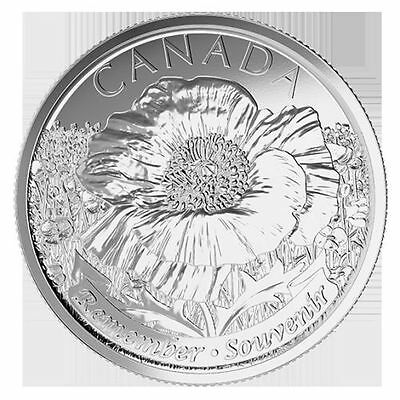 2015 25 CENT Canada REMEMBRANCE DAY POPPY COIN Non Color- Unc From MINT Roll