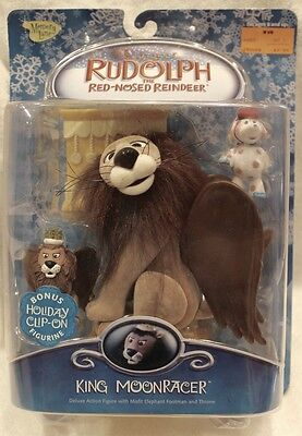 Rudolph Memory Lane King Moonracer Deluxe Action Figure with Throne 2003 NIB!
