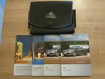 Mercedes Benz SLK Owners Handbook/Manual and Wallet 09-11