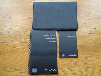 Lotus Elise Owners Handbook Manual and Wallet