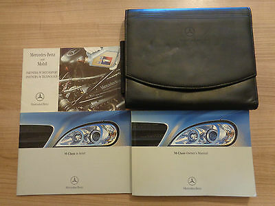 Mercedes Benz ML M Class Owners Handbook Manual and Wallet 98-01