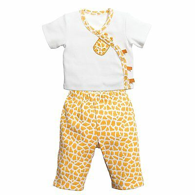 C.R. Gibson Baby Newborn Boy / Girl Tee & Pant Set Little Fair Giraffe 107-U8M3