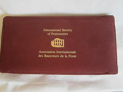 International Society of Postmasters case with magnifying glass (JB)