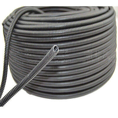 "50' Feet 1/4"" Split Loom Wire Flexible Tubing Conduit Polyethylene Hose"