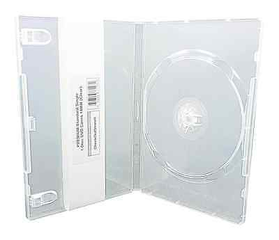 (10) CheckOutStore PREMIUM Standard Single 1-Disc DVD Cases 14mm (Clear)