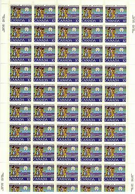 Canada Stamp #741 Inscription Sheet 50 stamps MNH Christmas
