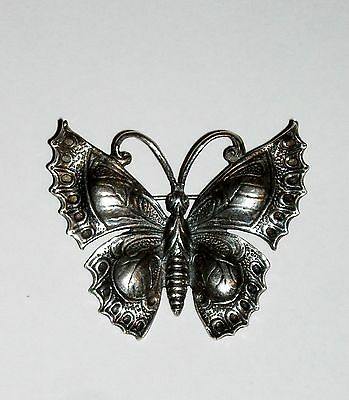 Vintage Guglielmo Cini Sterling Silver Signed Butterfly Brooch Pin .925 12 grams
