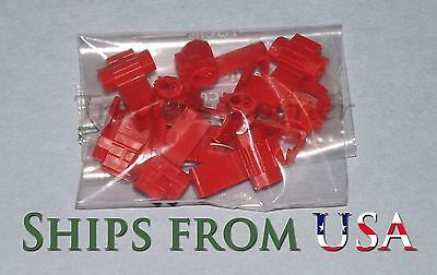 10Pcs Red Quick Lock/Snap On Splice Crimp Wire Electrical Cable Connectors