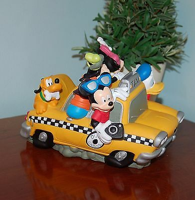 Disney Mickey Mouse & Friends Fab 5 Taxi Cab Piggy Bank