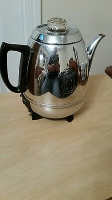 Euc Vintage 50's General Electric  Pot Belly 9 Cup Percolator  Made In Usa.