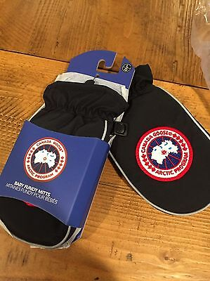 NEW Canada Goose Baby Fundy L Down Mitten Black 3-4 Years