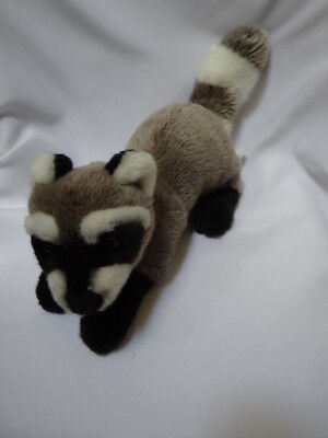 "11"" Cabin Critters 2002 Wild Raccoon Plush Realistic Animal Stuffed"