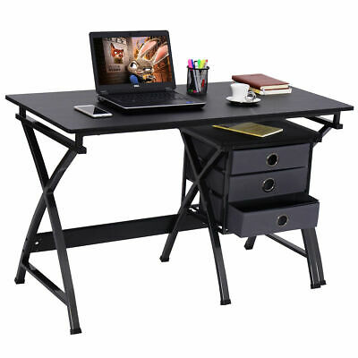 Computer Desk PC Laptop Writing Table Home Office Furniture w/ File Cabinet New