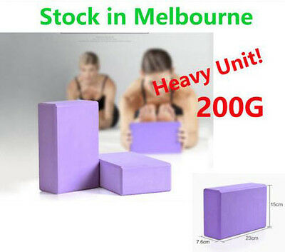 2pcs 200g Yoga Block Brick EVA Foaming Home Exercise Practice Fitness Sport Tool