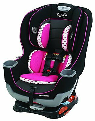 NEW Graco Extend2Fit Convertible Carseat KENZIE Fashion Infant PINK 1965233