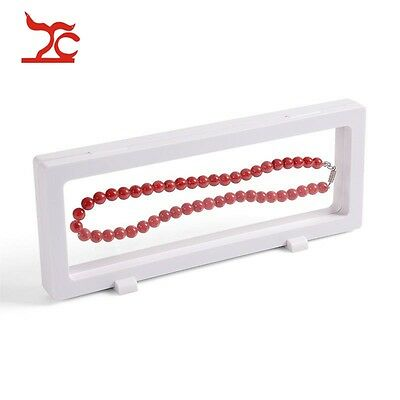 4pcs White PET Window Case Jewelry Display Earring Bracelet Necklace Ring Stand