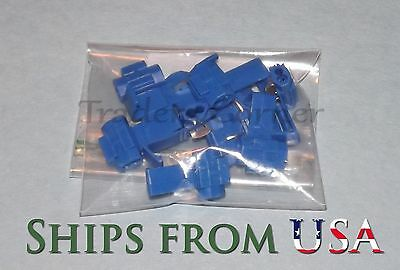 10Pcs Blue Quick Lock/Snap On Splice Crimp Wire Electrical Cable Connectors