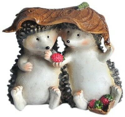 Top Collection Enchanted Story Fairy Garden Hedgehogs Sharing Outdoor Statue CXX