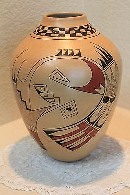 Beautiful Dawn Navasie Large Vase Hopi Pueblo Indian Art Pottery