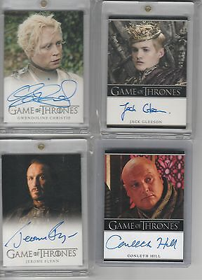 Game Of Thrones Season 1 Auto Jerome Flynn Full Bleed Autograph
